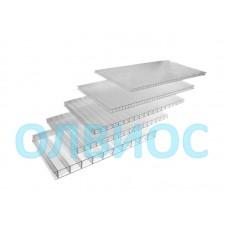 Поликарбонат сотовый 2100х6000х10 мм прозрачный